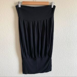 Mai Tai Black Basic Strapless Dress Small